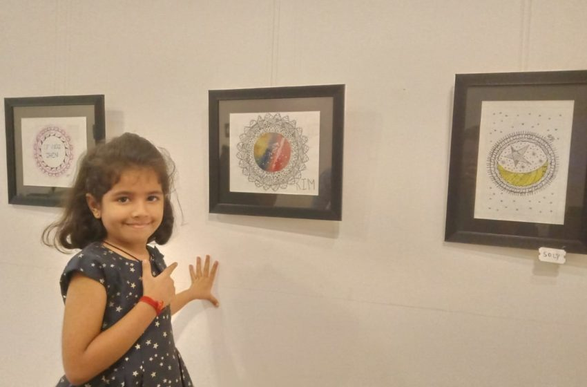 YOUNGEST MANDALA ART PAINTING ARTIST