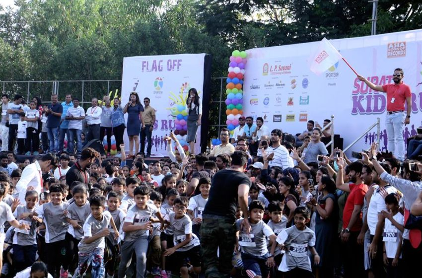 MOST STUDENTS PARTICIPATE IN KIDS RUN TO PROMOTE EDUCATION