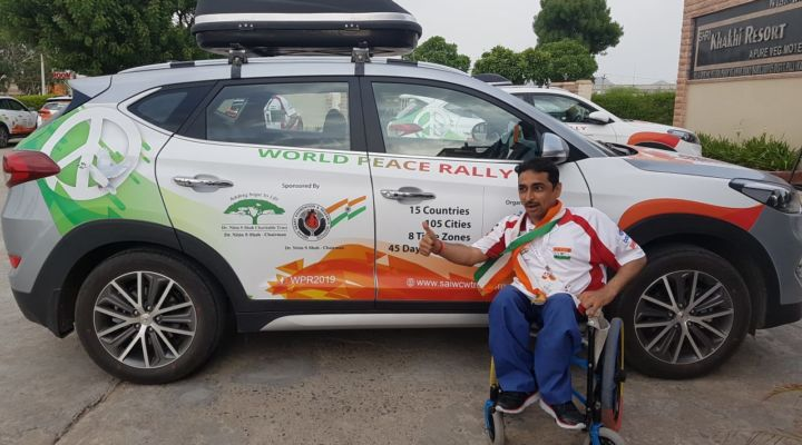 LONGEST DISTANCE COVERED BY CAR AS SPECIALLY ABLED
