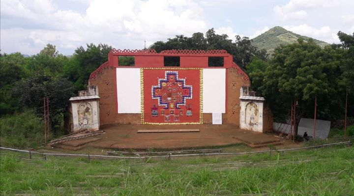 LARGEST SANJA 3D WALL ART USING COW DUNG