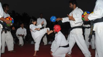 YOUNGEST TO PERFORMED MAWASHI GERI (UPPER-KICK) TO THE FOOTBALL IN ONE MIN